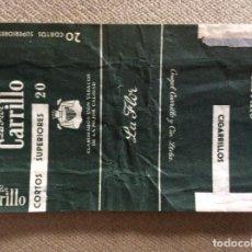 Paquetes de tabaco: ANTIGUO PAQUETE DE TABACO LA FLOR CARRILLO. Lote 144227126