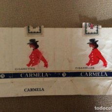 Paquetes de tabaco: ANTIGUO PAQUETE DE TABACO CARMELA. Lote 144227486