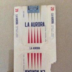 Paquetes de tabaco: ANTIGUO PAQUETE DE TABACO LA AURORA. Lote 144227694