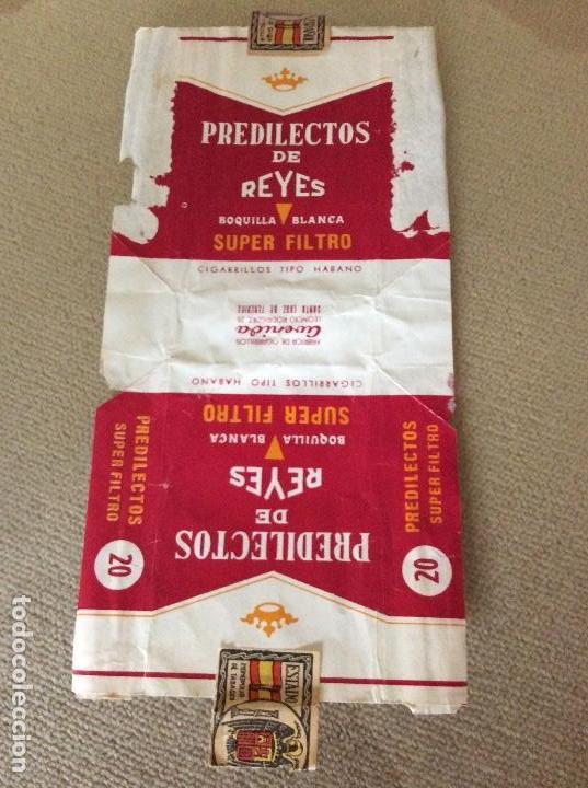 ANTIGUO PAQUETE DE TABACO PREDILECTOS DE REYES (Coleccionismo - Objetos para Fumar - Paquetes de tabaco)