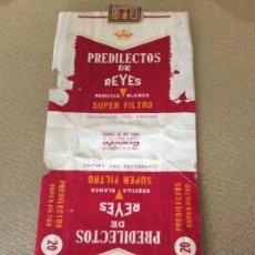 Paquetes de tabaco: ANTIGUO PAQUETE DE TABACO PREDILECTOS DE REYES. Lote 144231010