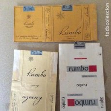 Paquetes de tabaco: LOTE DE 3 PAQUETES DISTINTOS DE TABACO RUMBO. Lote 144231642
