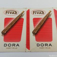 Paquetes de tabaco: ANTIGUO ENVOLTORIO PAQUETE TABACO PUROS FIVAZ DORA , SUIZA, RARO.. Lote 146459205