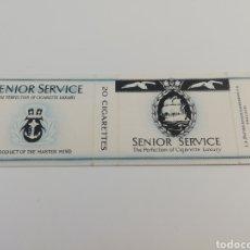 Paquetes de tabaco: ANTIGUO ENVOLTORIO PAQUETE DE TABACO CIGARRILLOS SENIOR SERVICE, INGLATERRA.. Lote 146459797