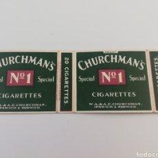 Paquetes de tabaco: ANTIGUO ENVOLTORIO PAQUETE DE TABACO CHURCHMAN'S, INGLATERRA.. Lote 146461073
