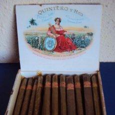 Paquetes de tabaco: (TA-190114)LOTE DE 19 PUROS - QUINTERO Y HNO. - HABANA - CUBA - PRECIO DE SALIDA 1 EURO. Lote 146514390