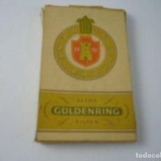 Paquetes de tabaco: GULDENRING.ANTIGUO Y PEQUEÑA CAJETILLA DE 6 CIGARRILLOS. VACIA.. Lote 146539714