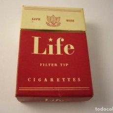 Paquetes de tabaco: LIFE , ANTIGUA CAJETILLA DE 20 CIGARETTES. VACIA.. Lote 146541794