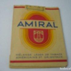 Paquetes de tabaco: AMIRAL, ANTIGUO PAQUETE DE TABACO DE 20 CIGARRILLOS. VACIO.. Lote 146551594