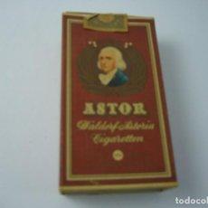 Paquetes de tabaco: ASTOR. ANTIGUA CAJETILLA DE 10 CIGARRILLOS . VACIA.. Lote 146552050