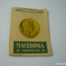 Paquetes de tabaco: MACEDONIA, ANTIGUO PAQUETE DE 20 CIGARRILLOS . VACIO.. Lote 146554574