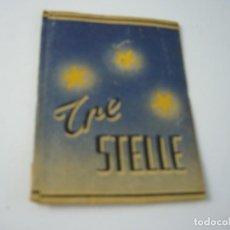Paquetes de tabaco: TRE STELLE, ANTIGUO PAQUETE DE 20 CIGARRILLOS. VACIO.. Lote 146556006