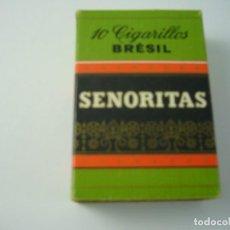 Paquetes de tabaco: SENORITAS, ANTIGUA CAJETILLA DE 10 CIGARRILLOS . VACIA.. Lote 146556686
