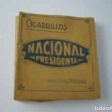 Paquetes de tabaco: NACIONAL PRESIDENTE, ANTIGUA CAJETILLA DE 14 CIGARRILLOS. VACIA.. Lote 146557806