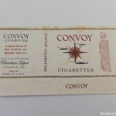 Paquetes de tabaco: ANTIGUO ENVOLTORIO PAQUETE DE TABACO CIGARRILLOS CONVOY, ESTADOS UNIDOS.. Lote 146597212