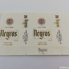 Paquetes de tabaco: ANTIGUO ENVOLTORIO PAQUETE DE TABACO CIGARRILLOS NEGRIS, ANTILLANA, TENERIFE CANARIAS. Lote 146698945