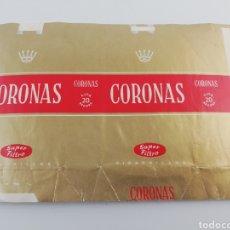 Paquetes de tabaco: ANTIGUO ENVOLTORIO PAQUETE DE TABACO CIGARRILLOS CORONAS.. Lote 146699521