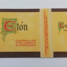 Paquetes de tabaco: ANTIGUO ENVOLTORIO PAQUETE DE TABACO CIGARRILLOS ETÓN, BREÑA ALTA LA PALMA CANARIAS.. Lote 146701284