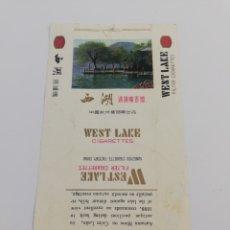 Paquetes de tabaco: ANTIGUO ENVOLTORIO PAQUETE DE TABACO CIGARRILLOS WEST LAKE, CHINA, RARO.. Lote 146702601