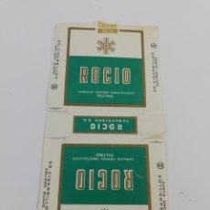 Paquetes de tabaco: ANTIGUO ENVOLTORIO PAQUETE DE TABACO CIGARRILLOS ROCIO.. Lote 146703341