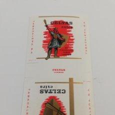 Paquetes de tabaco: ANTIGUO ENVOLTORIO PAQUETE DE TABACO CIGARRILLOS CELTAS EXTRA LARGOS.. Lote 146703822