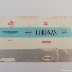 Paquetes de tabaco: ANTIGUO ENVOLTORIO PAQUETE DE TABACO CIGARRILLOS CORONAS, TENERIFE CANARIAS.. Lote 146703870