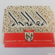 Paquetes de tabaco: ANTIGUO ENVOLTORIO ETIQUETA PAQUETE TABACO CIGARRILLOS ANKARA, TURQUIA.. Lote 146704026