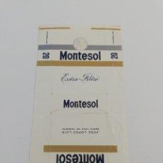 Paquetes de tabaco: ANTIGUO ENVOLTORIO PAQUETE DE TABACO CIGARRILLOS MONTESOL, TENERIFE CANARIAS.. Lote 146704282