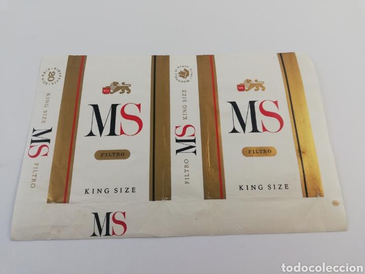 ANTIGUO ENVOLTORIO PAQUETE DE TABACO CIGARRILLOS MS KING SIZE. (Coleccionismo - Objetos para Fumar - Paquetes de tabaco)