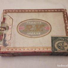 Paquetes de tabaco: CAJA TABACO R.V. HABANA CUBA. Lote 146747254