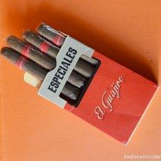Paquetes de tabaco: ESPECIALES EL GUAJIRO - CAJA ANTIGUA DE TABACO - CON 4 CIGARROS PURO. Lote 147155862