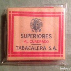 Paquetes de tabaco: SUPERIORES AL CUADRADO TABACALERA S.A. PERFECTO ESTADO SIN ABRIR - PRECIO 0,75 PTS. Lote 158739800
