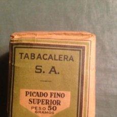 Paquetes de tabaco: PICADO FINO SUPERIOR DE 5O GRAMOS. TABACALERA SA - PRECIO 2,25 PTS. Lote 158740237
