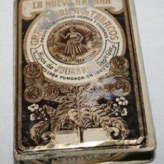 Paquetes de tabaco: CUARTERON DE TABACO, LA NUEVA HABANA, JULIAN REIG, PICADURA EXTRA AL CUADRADO SUAVE. Lote 147735526