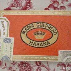 Paquetes de tabaco: CAJA PRECINTADA/ SIN ABRIR. MARIA GUERRERO 25 BOUQUETS, AÑO 72. Lote 151369525