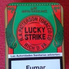 Paquetes de tabaco: LATA VACÍA METÁLICA DE CIGARRILLOS TABACO TOBACCO CIGARETTES CIGARETTES 2009 APROX. LUCKY STRIKE VER. Lote 150326066