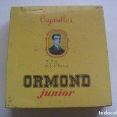 Paquetes de tabaco: CAJA DE METAL DE TABACO : CIGARRILLOS ORMOND JUNIOR, SUMATRA , HAVANE. Lote 151611178