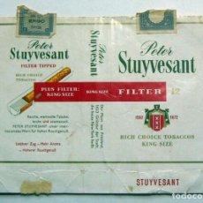 Paquetes de tabaco: ENVOLTORIO DE TABACO MARCA PETER STUYVESANT. Lote 152063362