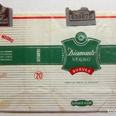 Paquetes de tabaco: ENVOLTORIO DE TABACO MARCA DIAMANTE NEGRO ISLAS CANARIAS. Lote 152063366