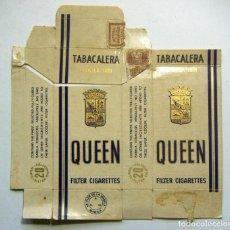 Paquetes de tabaco: ENVOLTORIO DE TABACO MARCA QUEEN. Lote 152065202