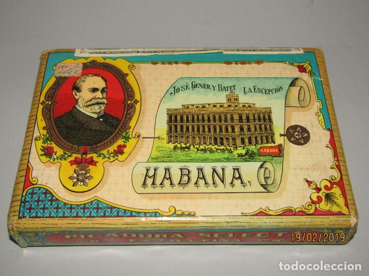ANTIGUO PAQUETE GIGANTE DE PICADURA GRANULADA DE LA ESCEPCIÓN DE HROS. DE JOSÉ GENER HABANA (Coleccionismo - Objetos para Fumar - Paquetes de tabaco)