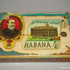 Paquetes de tabaco: ANTIGUO PAQUETE GIGANTE DE PICADURA GRANULADA DE LA ESCEPCIÓN DE HROS. DE JOSÉ GENER HABANA. Lote 152211450
