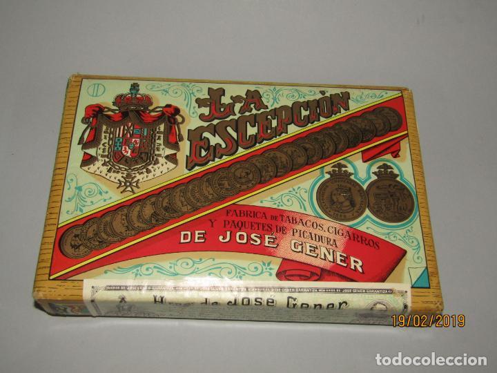 Paquetes de tabaco: Antiguo Paquete Gigante de Picadura Granulada de LA ESCEPCIÓN de Hros. de JOSÉ GENER Habana - Foto 2 - 152211450