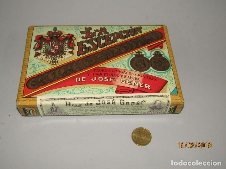 Paquetes de tabaco: Antiguo Paquete Gigante de Picadura Granulada de LA ESCEPCIÓN de Hros. de JOSÉ GENER Habana - Foto 7 - 152211450