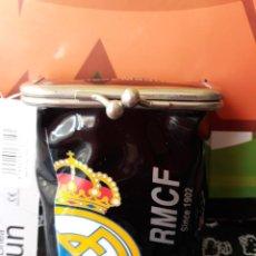 Paquetes de tabaco: PITILLERA PARA EL TABACO DEL REAL MADRID NEGRA. Lote 152477098
