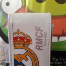 Paquetes de tabaco: PITILLERA CON SOLAPA PARA EL TABACO DEL REAL MADRID BLANCA. Lote 152477294