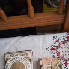 Paquetes de tabaco: 2 ANTIGUOS PAQUETES DE PICADURA DE TABACO, LA NUEVA HABANA. Lote 153085261
