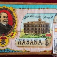 Paquetes de tabaco: ANTIGUO GRAN PAQUETE TABACO LA EXCEPCIÓN HABANA. Lote 153661098