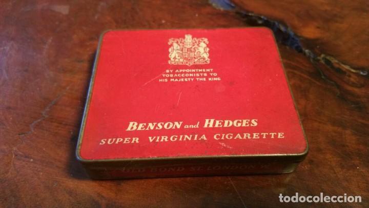 CAJA METÁLICA CIGARROS BENSON AND HEDGES (Coleccionismo - Objetos para Fumar - Paquetes de tabaco)