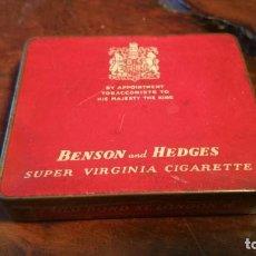 Paquetes de tabaco: CAJA METÁLICA CIGARROS BENSON AND HEDGES. Lote 155974962